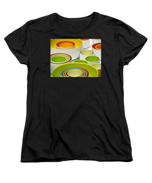 Women's T-Shirt (Standard Cut) featuring the photograph Circles Squared by Ira Shander