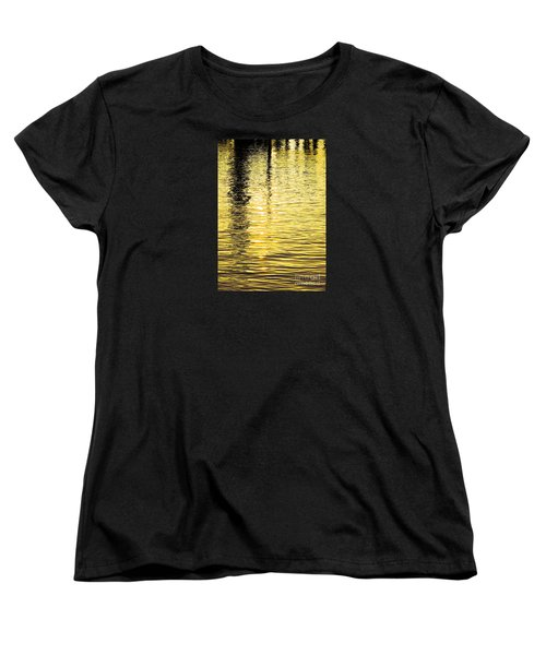 Citrine Ripples Women's T-Shirt (Standard Cut) by Chris Anderson
