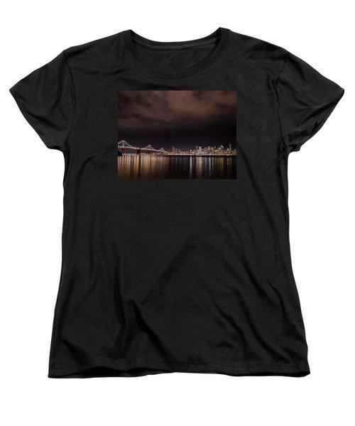 City By The Bay Women's T-Shirt (Standard Cut) by Linda Villers