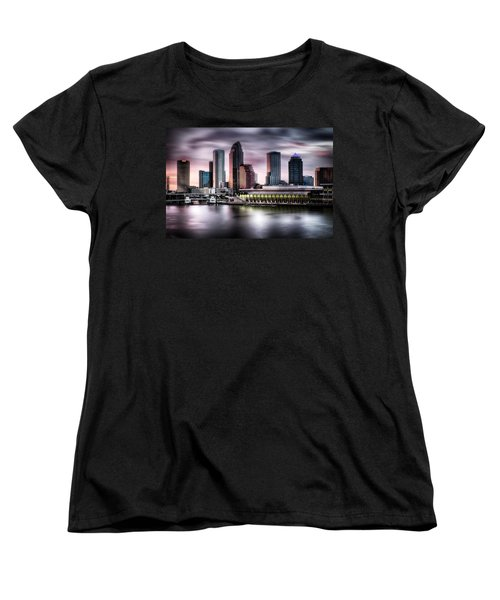 City Of Tampa Skyline At Dusk In Hdr Women's T-Shirt (Standard Cut)
