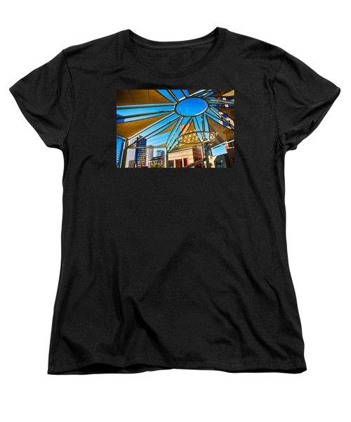 City Shapes Women's T-Shirt (Standard Cut) by Fred Larson
