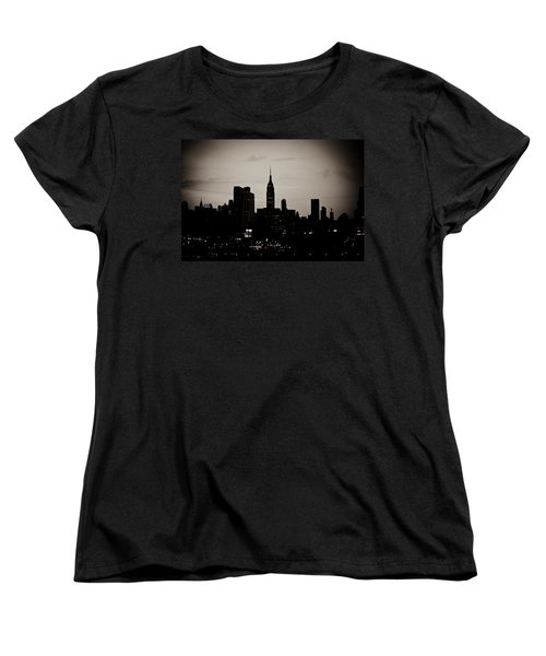 Women's T-Shirt (Standard Cut) featuring the photograph City Silhouette by Sara Frank