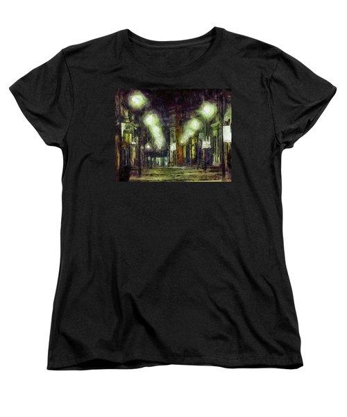 Women's T-Shirt (Standard Cut) featuring the drawing City Street by Joe Misrasi