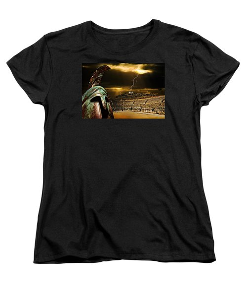 Clash Of The Titans Women's T-Shirt (Standard Cut) by Meirion Matthias