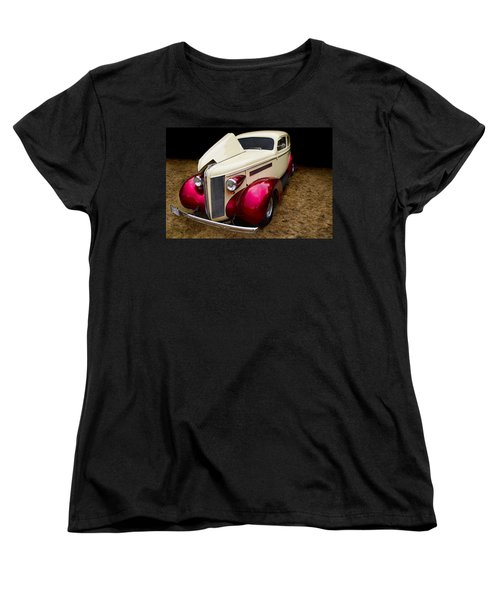Women's T-Shirt (Standard Cut) featuring the photograph Classic Car - 1937 Buick Century by Peggy Collins