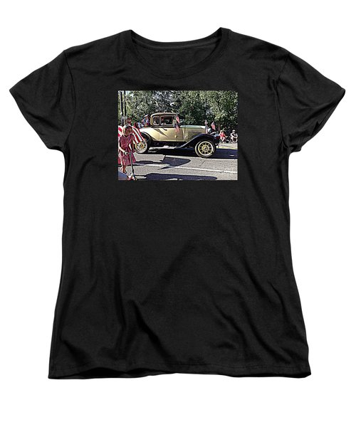 Classic Children's Parade Classic Car East Millcreek Utah 1 Women's T-Shirt (Standard Cut) by Richard W Linford