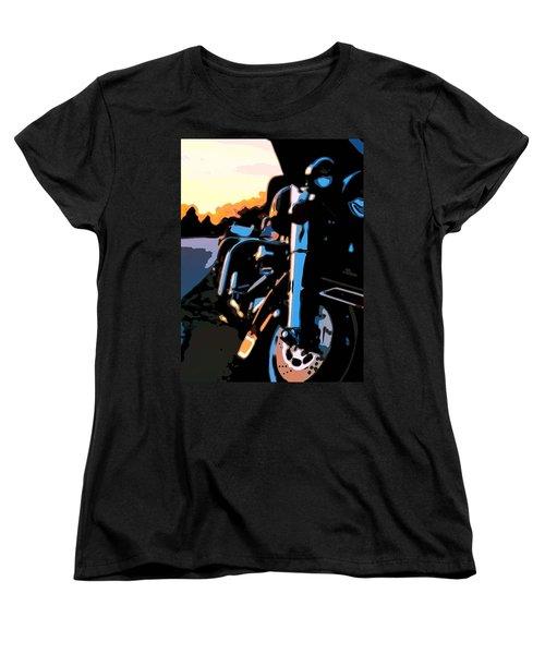 Classic Harley Women's T-Shirt (Standard Cut) by Michael Pickett