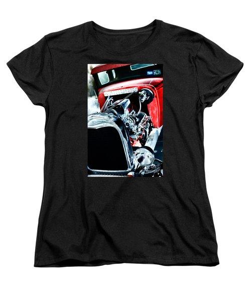 Women's T-Shirt (Standard Cut) featuring the digital art Classic Red by Erika Weber