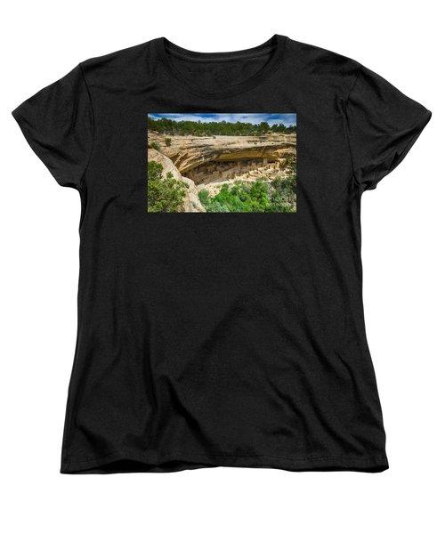 Women's T-Shirt (Standard Cut) featuring the photograph Cliff Palace by Juergen Klust