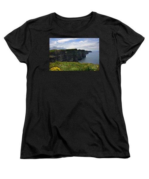 Cliffs Of Moher Looking South Women's T-Shirt (Standard Cut) by RicardMN Photography