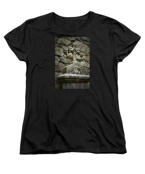 Cloister Cross At Jerpoint Abbey Women's T-Shirt (Standard Cut) by Nadalyn Larsen