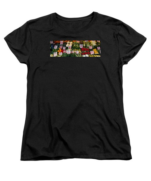 Close-up Of Pike Place Market, Seattle Women's T-Shirt (Standard Cut) by Panoramic Images