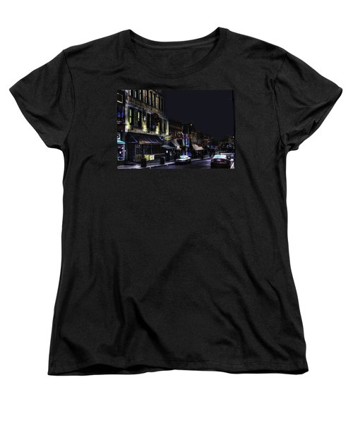 Memphis - Night - Closing Time On Beale Street Women's T-Shirt (Standard Cut) by Barry Jones