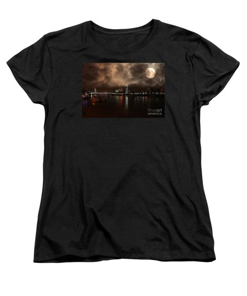 Clouds Over The River Thames Women's T-Shirt (Standard Cut) by Doc Braham