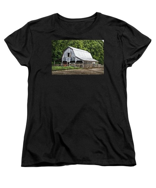 Clubhouse Road Barn Women's T-Shirt (Standard Cut) by Cricket Hackmann
