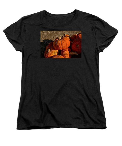 Women's T-Shirt (Standard Cut) featuring the photograph Knarly Pumpkin by Michael Gordon
