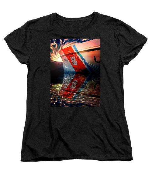 Ocean Women's T-Shirt (Standard Cut) featuring the photograph Coast Guard Uscg Alert Wmec-630 by Aaron Berg