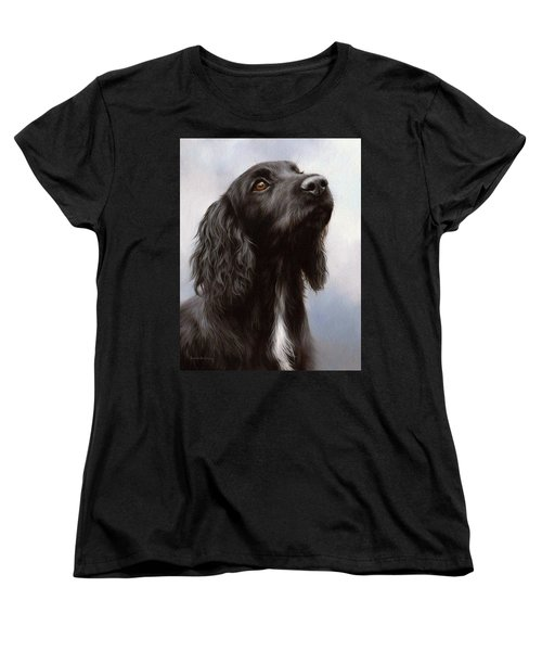 Cocker Spaniel Painting Women's T-Shirt (Standard Cut) by Rachel Stribbling