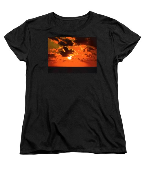 Women's T-Shirt (Standard Cut) featuring the photograph Coco Cay Sunset by Jennifer Wheatley Wolf