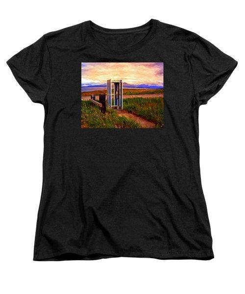 Cold Bay Ferry Service Women's T-Shirt (Standard Cut) by Michael Pickett