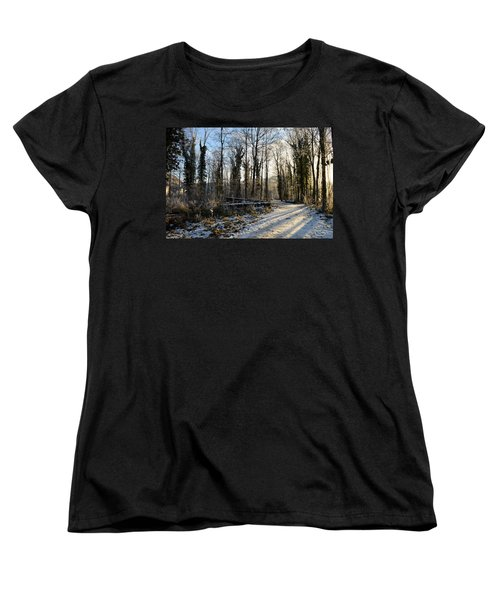 Women's T-Shirt (Standard Cut) featuring the photograph Cold Morning by Felicia Tica