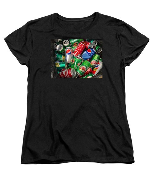 Collection Of Cans 02 Women's T-Shirt (Standard Cut) by Andy Lawless