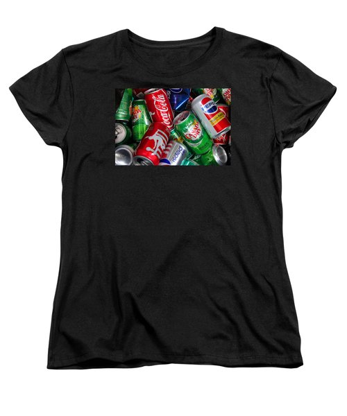 Collection Of Cans 04 Women's T-Shirt (Standard Cut) by Andy Lawless