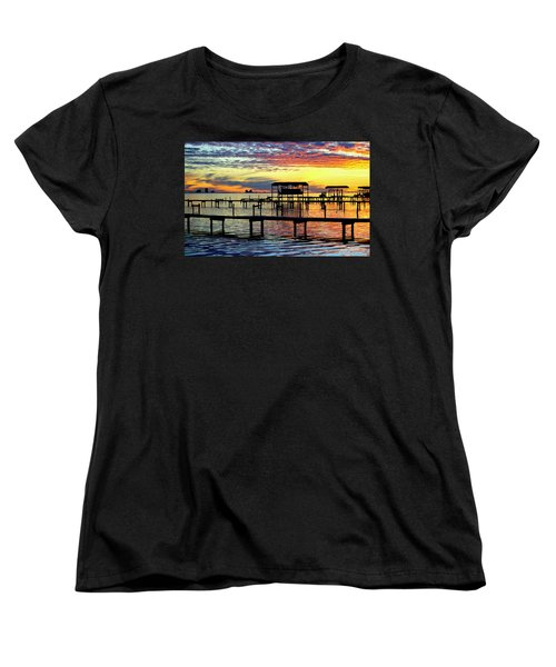 Women's T-Shirt (Standard Cut) featuring the photograph Colored Glass by Faith Williams