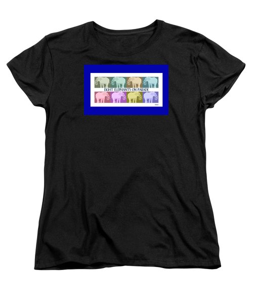 Colorful Elephants Women's T-Shirt (Standard Cut) by Marian Cates