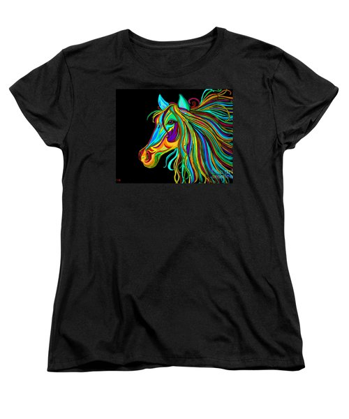 Colorful Horse Head 2 Women's T-Shirt (Standard Cut) by Nick Gustafson