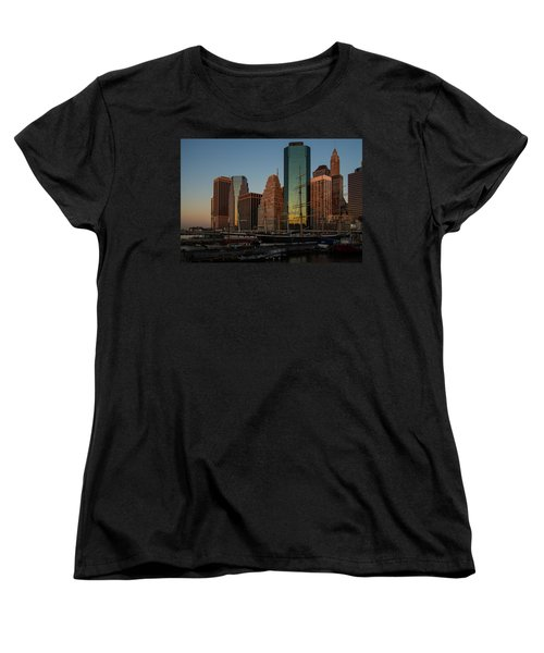Women's T-Shirt (Standard Cut) featuring the photograph Colorful New York  by Georgia Mizuleva