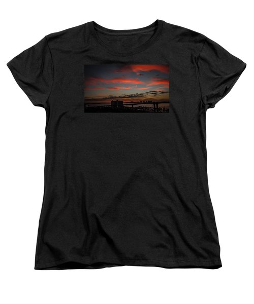 Women's T-Shirt (Standard Cut) featuring the photograph Colorful Sunset by Jane Luxton