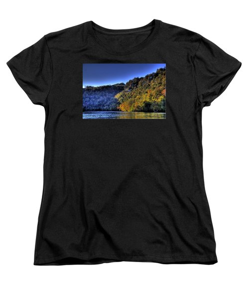 Women's T-Shirt (Standard Cut) featuring the photograph Colorful Trees Over A Lake by Jonny D