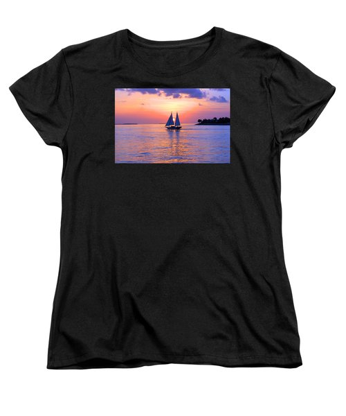 Colors Of Sunset Women's T-Shirt (Standard Cut) by Iryna Goodall