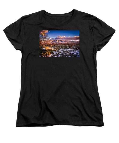 Women's T-Shirt (Standard Cut) featuring the photograph Colors Of Winter by Mark Myhaver