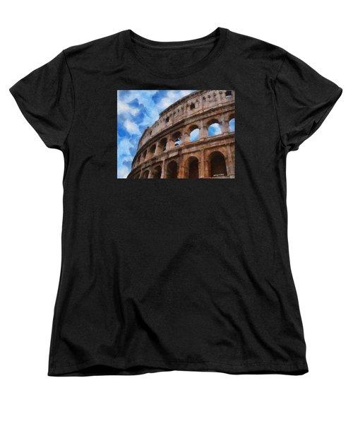 Colosseo Women's T-Shirt (Standard Cut) by Jeff Kolker