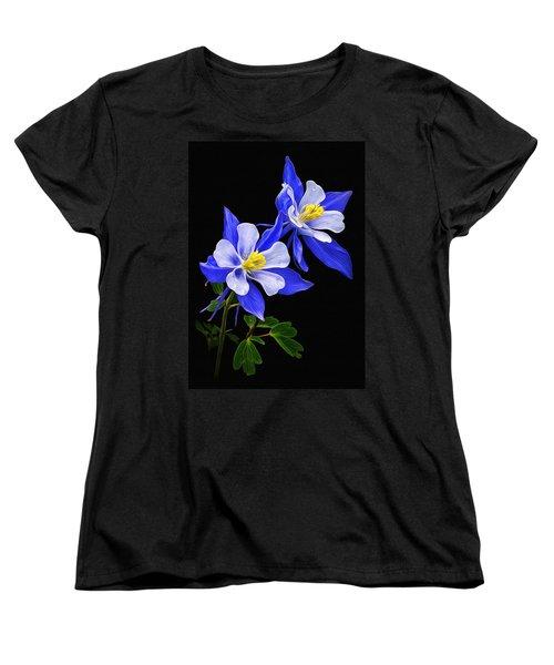 Women's T-Shirt (Standard Cut) featuring the photograph Columbine Duet by Priscilla Burgers