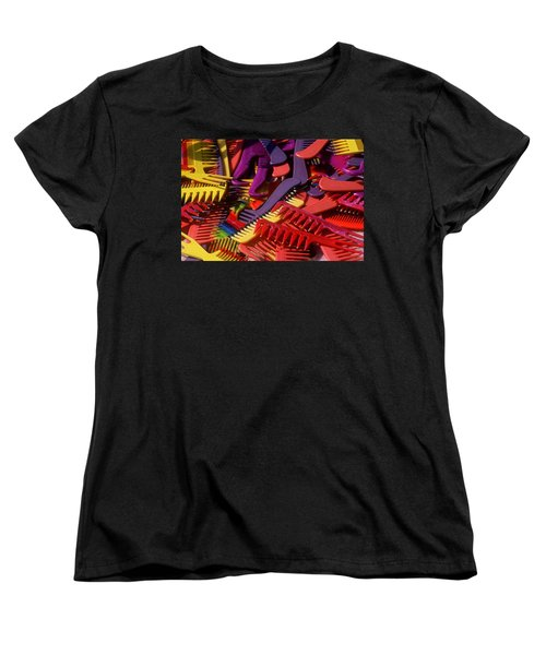 Women's T-Shirt (Standard Cut) featuring the photograph Combs by Rodney Lee Williams