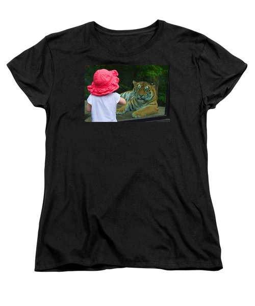 Come A Little Closer Women's T-Shirt (Standard Cut) by Dave Files