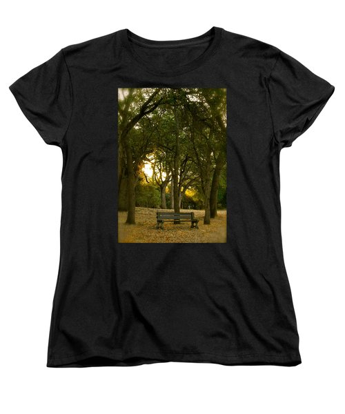 Come Sit Awhile Women's T-Shirt (Standard Cut) by Michele Myers