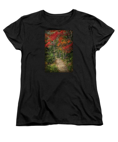 Women's T-Shirt (Standard Cut) featuring the photograph Come Walk With Me by Priscilla Burgers