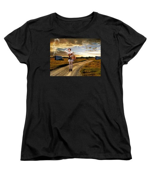 Women's T-Shirt (Standard Cut) featuring the photograph Coming Home by Ester  Rogers