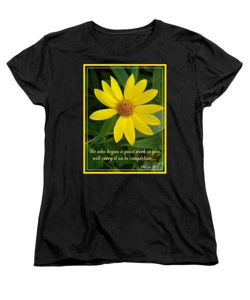 Completion Women's T-Shirt (Standard Cut) by Sara  Raber