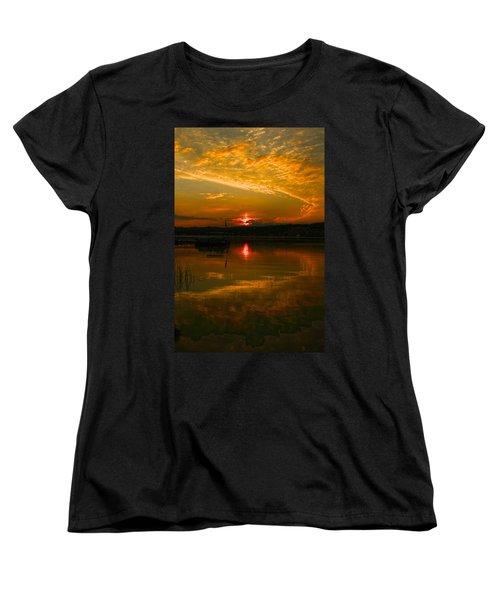 Conesus Sunrise Women's T-Shirt (Standard Cut) by Richard Engelbrecht