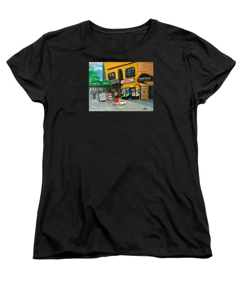 Women's T-Shirt (Standard Cut) featuring the painting Connecticut Avenue Dc by Victoria Lakes