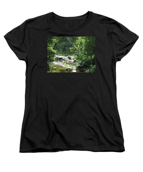 Women's T-Shirt (Standard Cut) featuring the photograph Cool Waters II by Ellen Levinson