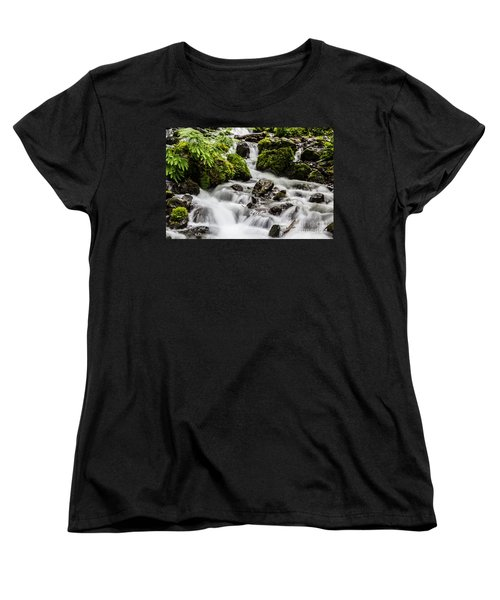 Women's T-Shirt (Standard Cut) featuring the photograph Cool Waters by Suzanne Luft