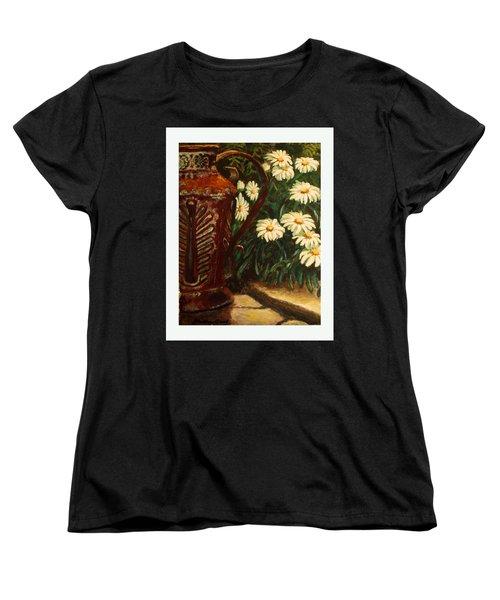 Copper And Daisies Women's T-Shirt (Standard Cut) by Harriett Masterson