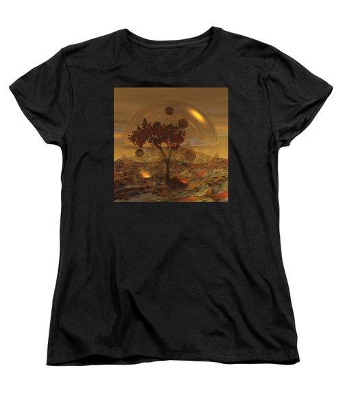 Copper Terrarium Women's T-Shirt (Standard Cut) by Judi Suni Hall