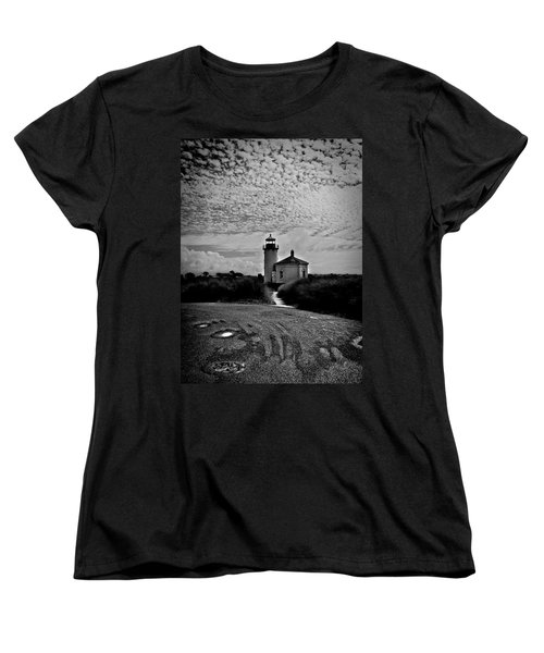 Coquille River Lighthouse Women's T-Shirt (Standard Cut) by Melanie Lankford Photography